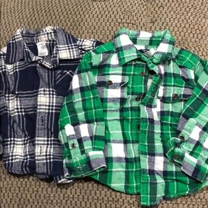 Size 12 months flannels